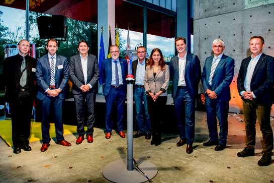 Openingsmoment Applicatiecentrum Beton en Bouw met gedeputeerde Tom Vandeput